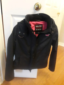 Hollister brand new black hooded women's jacket size small