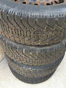 GOODYEAR NORDIC 185/65/14 WINTER TIRES & RIMS GREAT CONDITION Cambridge Kitchener Area image 1