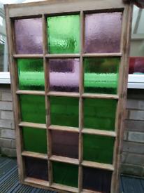 Antique stain glass windows