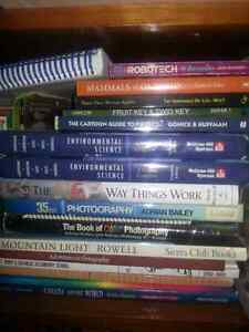 Various awesome books for sale.