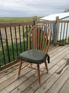 4 Hand Crafted Hutterite Chairs