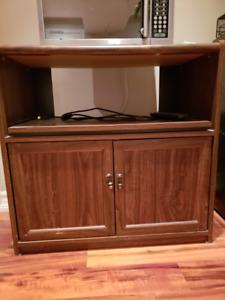 Wood veneer TV cabinet $15.00