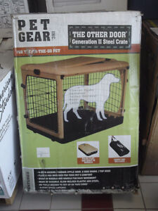 """NEW PET GEAR """"THE OTHER DOOR STEEL CRATE"""" FOR PETS UP TO 90 LBS"""