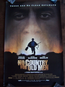 NO COUNTRY FOR OLD MEN original movie theater poster