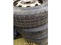 Vw t4 and t5 wheels with excellent tyres