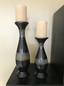 2 Pillar Candle Holders