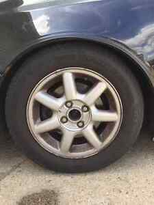 REDUCED 14 inch - 4x100 rims with tires