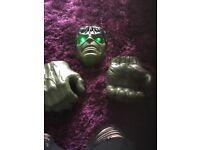 Light up hulk mask and hands