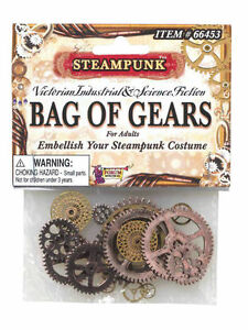 STEAMPUNK GEARS JEWELLEWRY FOR FANCY DRESS PARTY ACCESSORY
