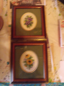 Needlepoint pictures $15.00 for the pair