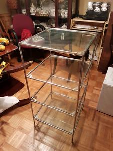 Retro 4 layer glass shelf