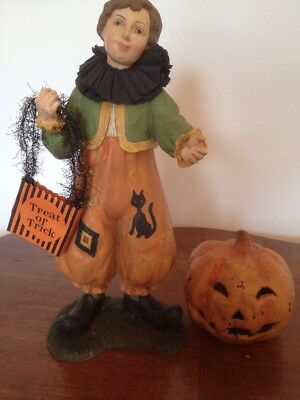 Bethany Lowe Halloween Pumpkin Clown Boy--Retired