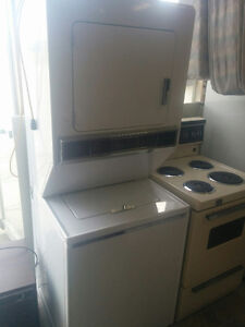 MAYTAG STACKING WASHER AND DRYER COMBINATION