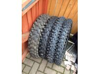 Part worn motocross tyres £45 for the 4
