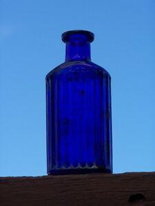 Blue Poison Bottle Moose Jaw Regina Area image 2