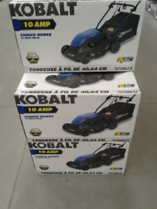 BRAND NEW IN BOX Kobalt16-in 10 Amp Corded Electric Push Lawn M