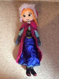Disney Store Frozen Anna Soft a Toy Doll