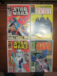 Vintage 1980's Marvel Star Wars Comic Book Lot