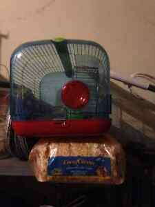 Gerbil/hamster cage + accessories