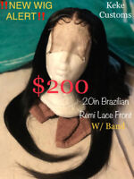 $170 NEW PRICE 20inch Brazilian Remy Lace Front Wig