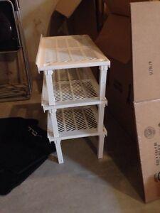 Three tier shoe rack- $10
