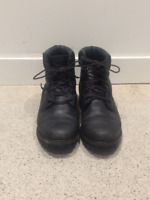 """Black Leather Timberland Waterproof 6"""" Boots Size 9"""