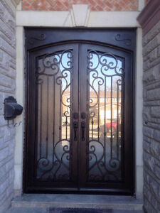 CALIFORNIAN WROUGHT %100 IRON DOOR, SINGLE, DOUBLE DOOR
