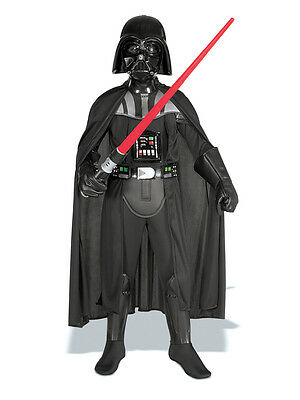 Kids Darth Vader Costume (Child Darth Vader Deluxe Outfit New Fancy Dress Costume Star Wars Kids Boys)