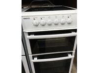 Beko 50cm electric cooker in mint condition with a three months warranty