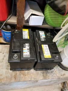 2  Good GM ACDelco 12v Batteries