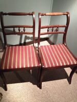 2 antique dining chairs