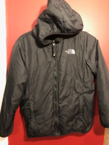 The North Face Girl's Black Reversible Coat - Size 14/16