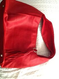 Maxon collection red Italian leather handbag