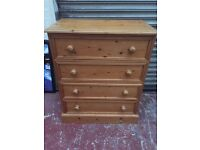Solid Pine Chest Of Drawers, Can Deliver