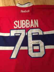 SIGNED NEW PK Subban Jersey Reebok West Island Greater Montréal image 3