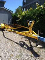 Trailer for 24-26 ft Boat HaulRite Trailer Yellow