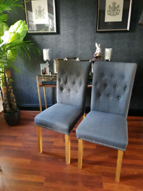 6 x Chairs tk maxx , grey