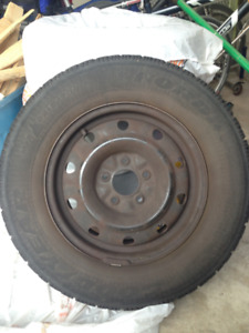 Winter tires on unsexy rims, Dodge Grand Caravan