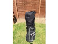 St Andrews golf clubs and bag and trolley