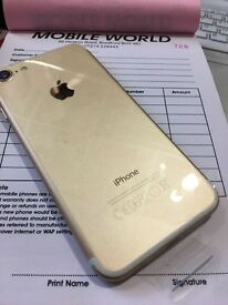 Iphone 7 256GB Gold unlocked to all Networks