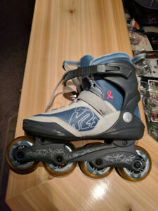 K2 Rollerblades Used Twice w/ K2 protective gear