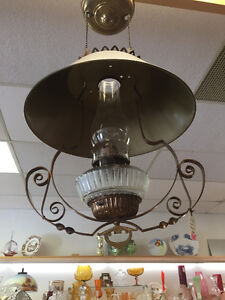 Vintage Hanging Lamp -- FROM PAST TIMES Antiques - 1178 Albert
