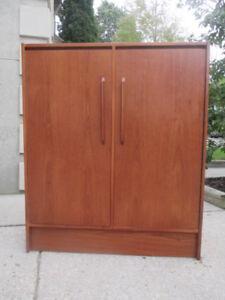MCM Teak Gentleman's Dresser / Wardrobe
