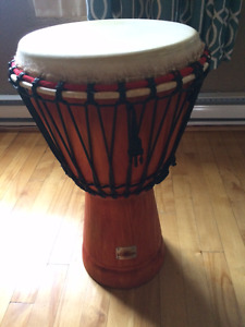 """Kejam 12"""" Djembe with strap and Levi's soft case"""