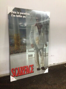 SCARFACE POSTER AND SPEAKER STANDS