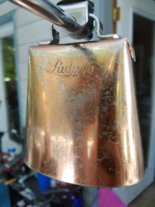 60s Ludwig Vintage  Gold Tone Cow Bell