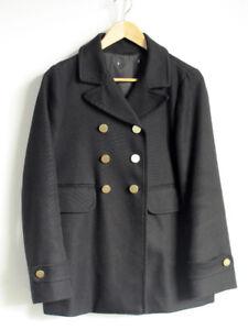 GAP Military Style Womens Black Peacoat Jacket Small