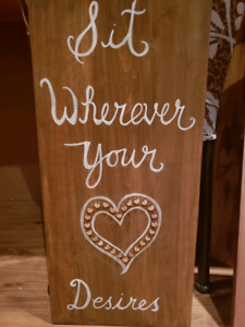 Wedding seating sign
