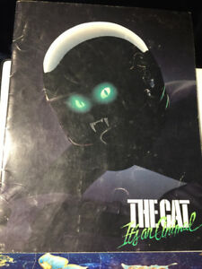 Vintage THE CAT Its an Animal Brochure 1984