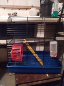 Two level hamster/mouse cage